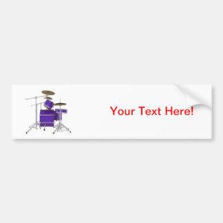 Purple / Violet Drum Kit: Bumper Sticker