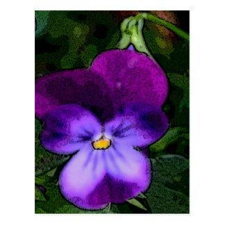 Purple Violet Flower Art Postcard
