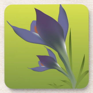 purple violet flower is pion the dissolved bud beverage coaster