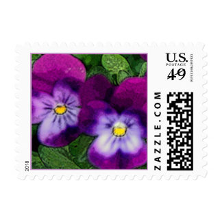 Purple Violet Flower Postage