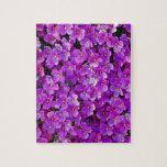 Purple violet flowers background jigsaw puzzle
