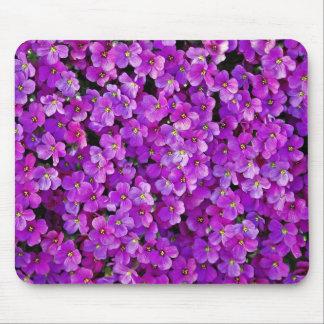 Purple violet flowers background mouse pad