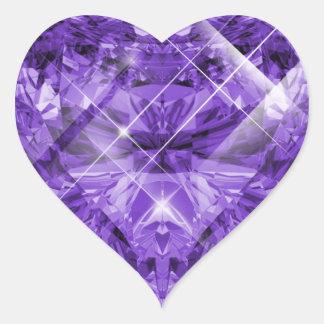 Purple, Violet Gem Heart Sticker