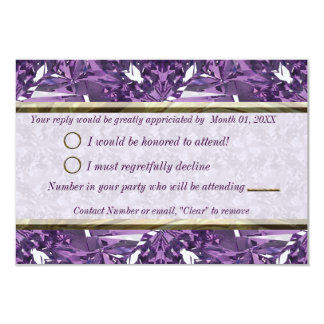Purple, Violet Gem RSVP Card