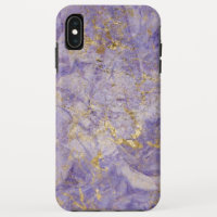 Purple Violet Gold marble iPhone XS Max Case