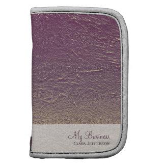Purple violet gradient aluminum grunge folio planner