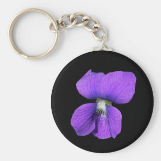 Purple Violet keychain