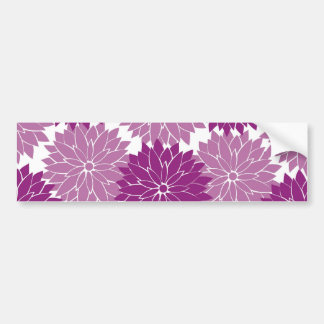Purple Violet Lavender Flower Blossoms Floral Bumper Sticker