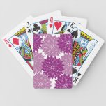Purple Violet Lavender Flower Blossoms Floral Bicycle Playing Cards