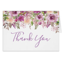 Purple Violet Lilac Floral Thank You Card