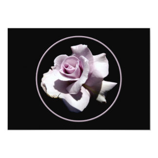 Purple - Violet Rose 5x7 Paper Invitation Card