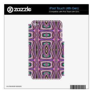 Purple Violet Sketch Aztec Pattern iPod Touch 4G Skin