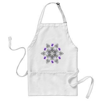 Purple Violet Swirl apron