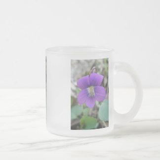 Purple Violet Wildflower Coffee Mugs