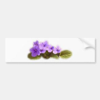 purple violets - customizable bumper sticker