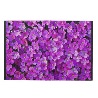 Purple violets floral background iPad air cover