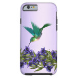 Purple Violets Purple Hummingbird iPhone 6 case