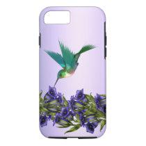 Purple Violets Purple Hummingbird iPhone 7 case