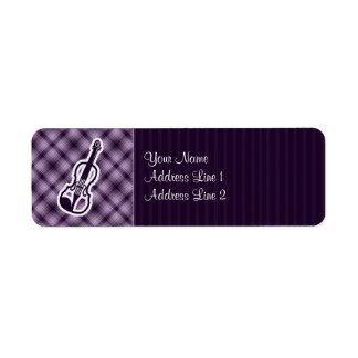 Purple Violin Label