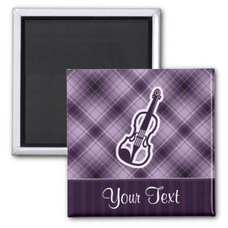 Purple Violin Magnet