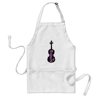Purple Violin T-Shirt Adult Apron