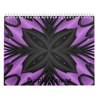 Purple Visions Wall Calendar