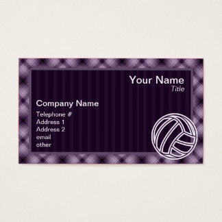 Purple Volleyball Business Card