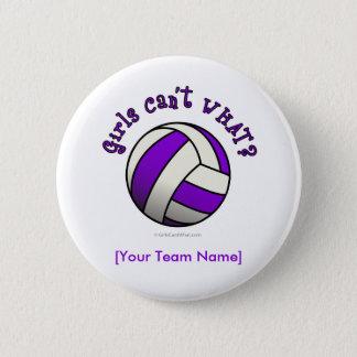 Purple Volleyball Button