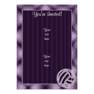 Purple Volleyball Card
