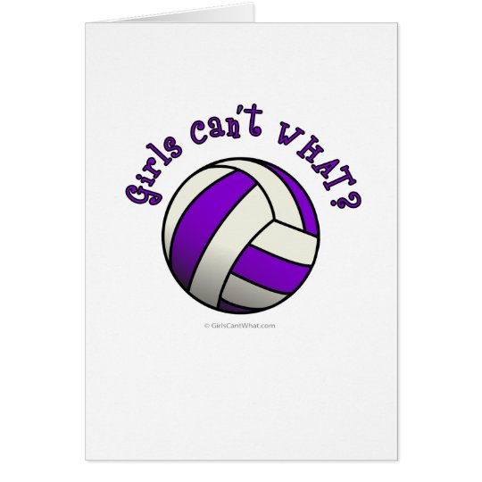 Purple Volleyball Card