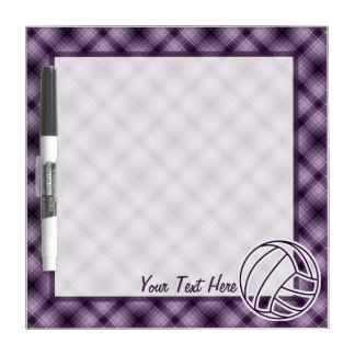 Purple Volleyball Dry-Erase Board