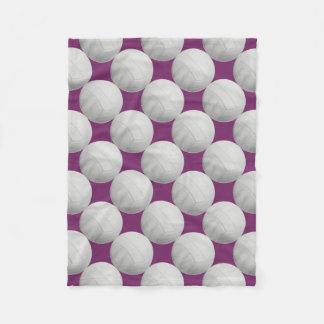 Purple Volleyball Fleece Blanket