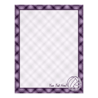 Purple Volleyball Letterhead