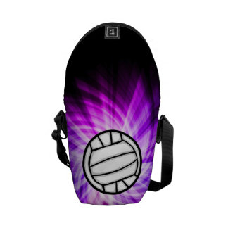 Purple Volleyball Courier Bag
