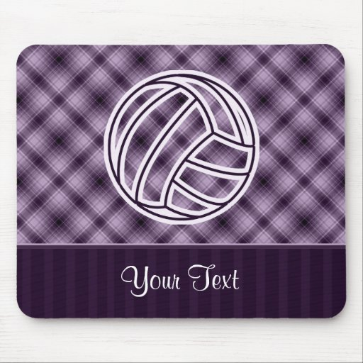 Purple Volleyball Mouse Pads