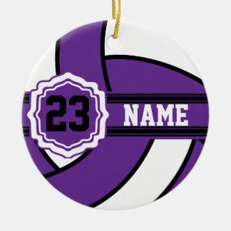 Purple Volleyball Ornament
