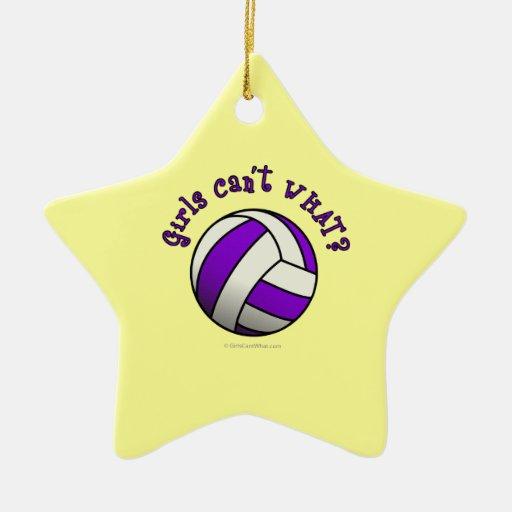 Purple Volleyball Ornaments