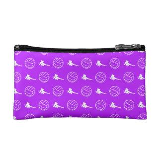 Purple Volleyball Pattern Clutch