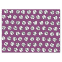 Purple Volleyball Pattern Tissue Paper