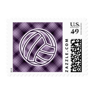 Purple Volleyball Stamps
