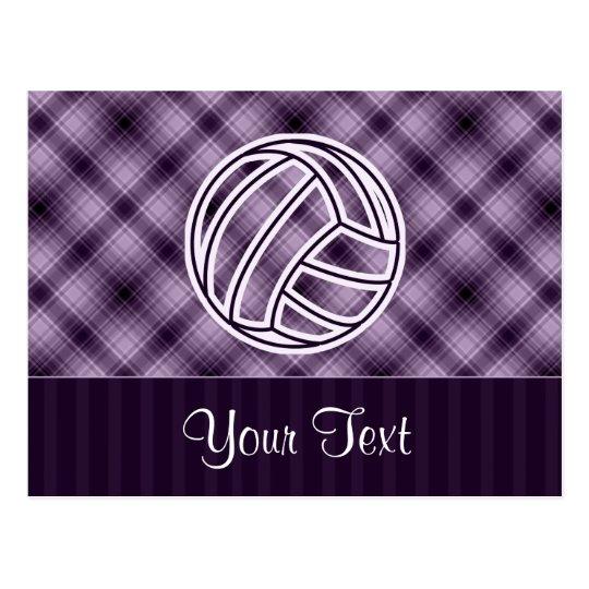 Purple Volleyball Postcard