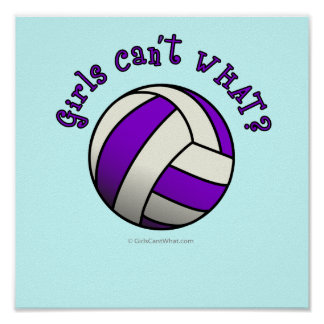 Purple Volleyball Poster