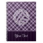 Purple Volleyball Spiral Notebook