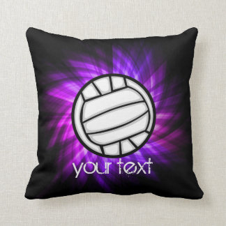 Purple Volleyball Throw Pillow