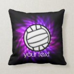 Purple Volleyball Throw Pillows