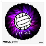 Purple Volleyball Wall Graphic