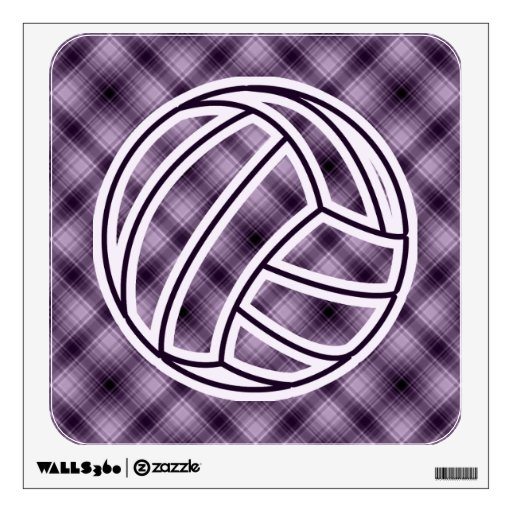 Purple Volleyball Wall Skins