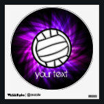 """Purple Volleyball Wall Sticker<br><div class=""""desc"""">You will love this cool purple / violet volleyball player girl design. Great for gifts! Available on tee shirts, smart phone cases, mousepads, keychains, posters, cards, electronic covers, computer laptop / notebook sleeves, caps, mugs, and more! Visit our site for a custom gift case for Samsung Galaxy S3, iphone 5,...</div>"""