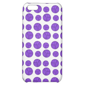 Purple volleyballs cover for iPhone 5C