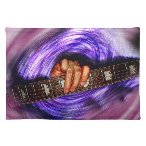 Purple Vortex Guitar Grip Cloth Placemat